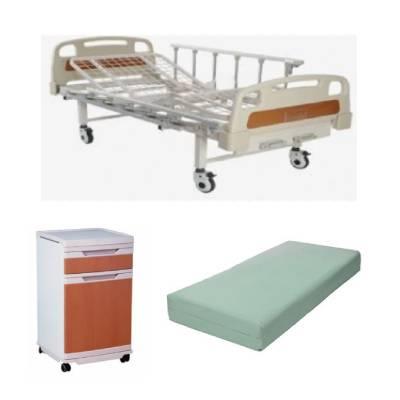 pat spital cu saltea si noptiera